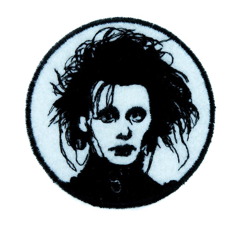 Edward Scissorhands Patch Iron on Applique Gothic Clothing Classic Movie Tim Burton