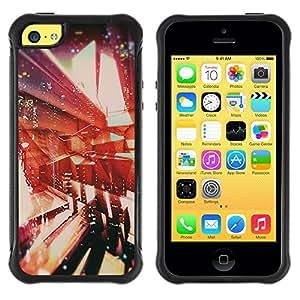 Paccase / Suave TPU GEL Caso Carcasa de Protección Funda para - Architecture Abstract Vignette - Apple Iphone 5C