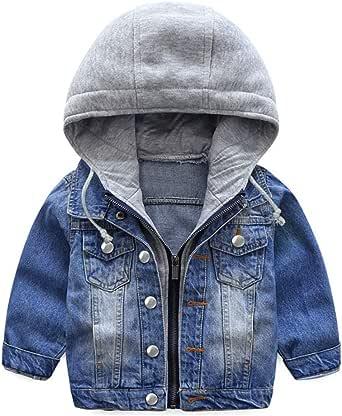 Niño Capucha Chaqueta Vaquera Abrigo Bebé Cazadora Vaquera Niñas Denim Jacket Manga Larga Mezclilla Jacke Trajes De Otoño Invierno Outwear
