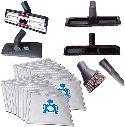 para suelos de moqueta y lisos, articulaci/ón giratoria y basculante, para Bosch GAS 12-50 RF Cleanwizzard Boquilla para aspiradora