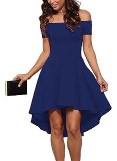 Vestido fiesta azul electrico corto