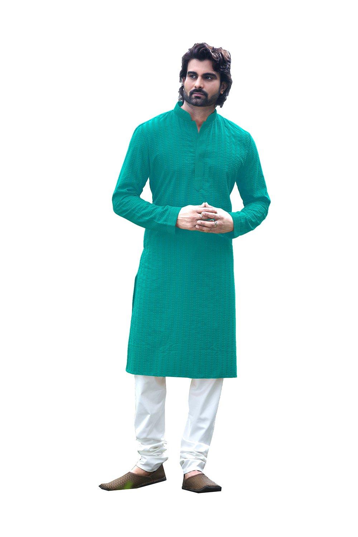 daindiashop-USA Indian Traditional Designer Partywear Ethnic Wear Mens Kurta Pajama KES-5467
