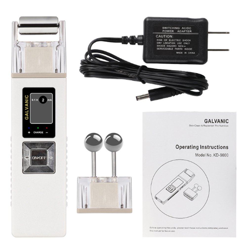 Galvanic Facial Machine Portable Professional Galvanic Microcurrent Skin Firming Machine with Case Anti-aging Galvanic Roller Skin Care Spa for Salon and Home Use, Shipping from USA Zinnor Zinnor420238