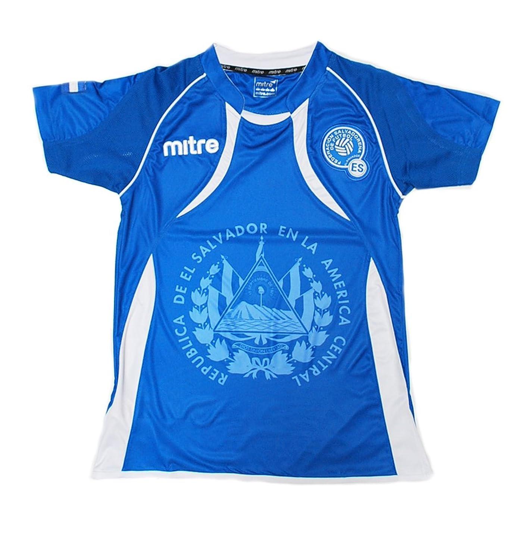c22a4678e ... Soccer Jersey Exclusive Design Clothing Amazon.com El Salvador Home  Womens (XS) Clothing ...
