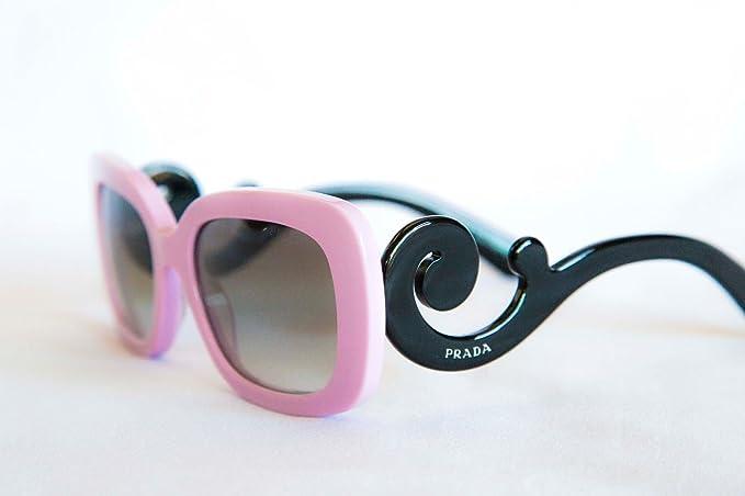 2d3b8168f27 PRADA Baroque Swirl Sunglasses SPR 27O PDP-0A7 Pink Black  Amazon.co.uk   Clothing
