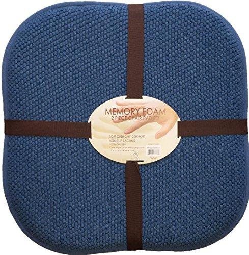 Set of 2, Memory Foam Non-Slip Backing Chair Pad / Seat Cushion Pad Size : 16