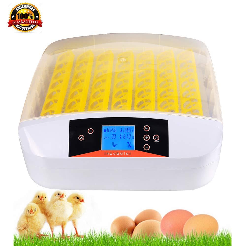 Bunao 56 Eier Inkubator Vollautomatische Brutmaschine Brutkasten Brutapparat Flä chenbrü ter Automatische Geflü gel Brü ter Brutmaschine Inkubation