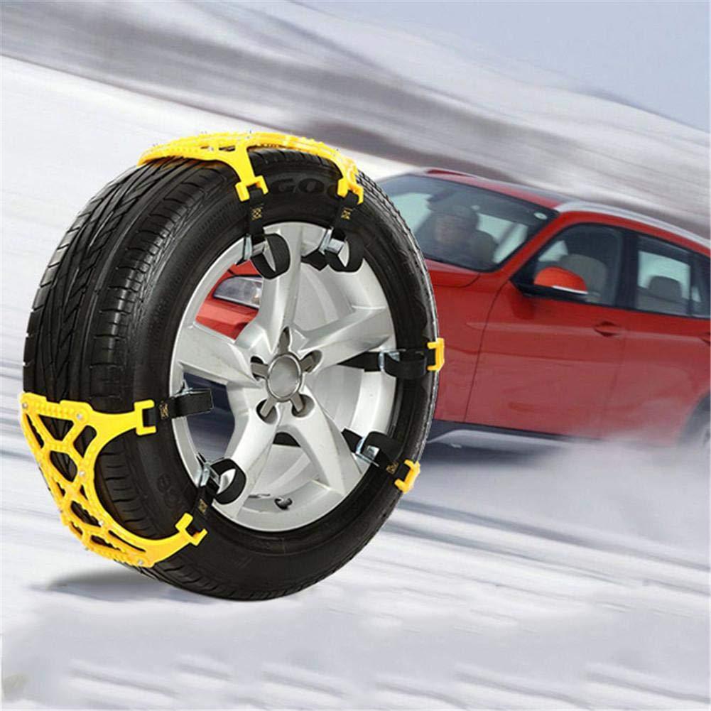 FancyU Cadenas de Nieve para Llantas, TPU y aleación Cadenas de Nieve para automóvil Cadena de neumático Antideslizante Universal de Emergencia para ...