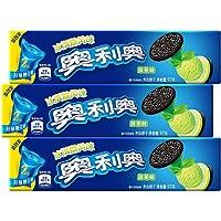 奥利奥(Oreo)休闲零食双口味夹心饼干抹茶味97g
