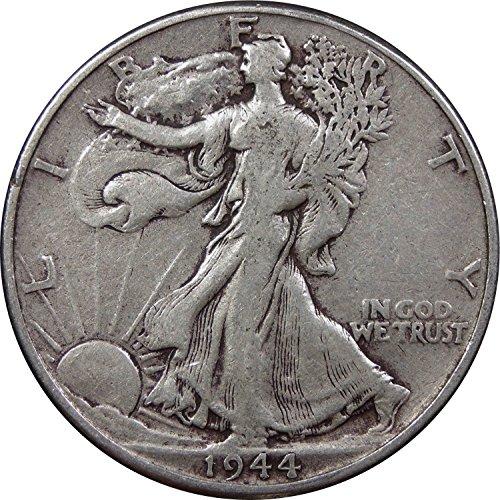 1920-1947 U.S. Walking Liberty Half Dollar Coin, 90% Silver, Circulated Condition