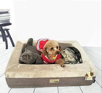 Perros y gatos cama para mascotas impermeable y lavable tamaño pequeño perro de tamaño mediano se