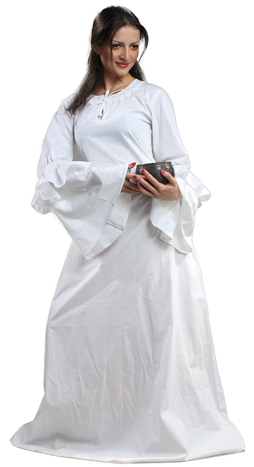 Women's Medieval Renaissance Anne of Cleves White Chemise - DeluxeAdultCostumes.com
