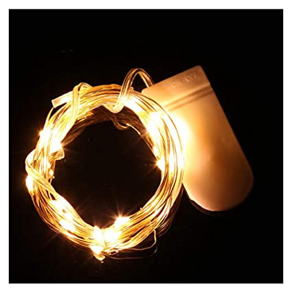 Amazon Com 20 Led Copper Wire String Lights Battery