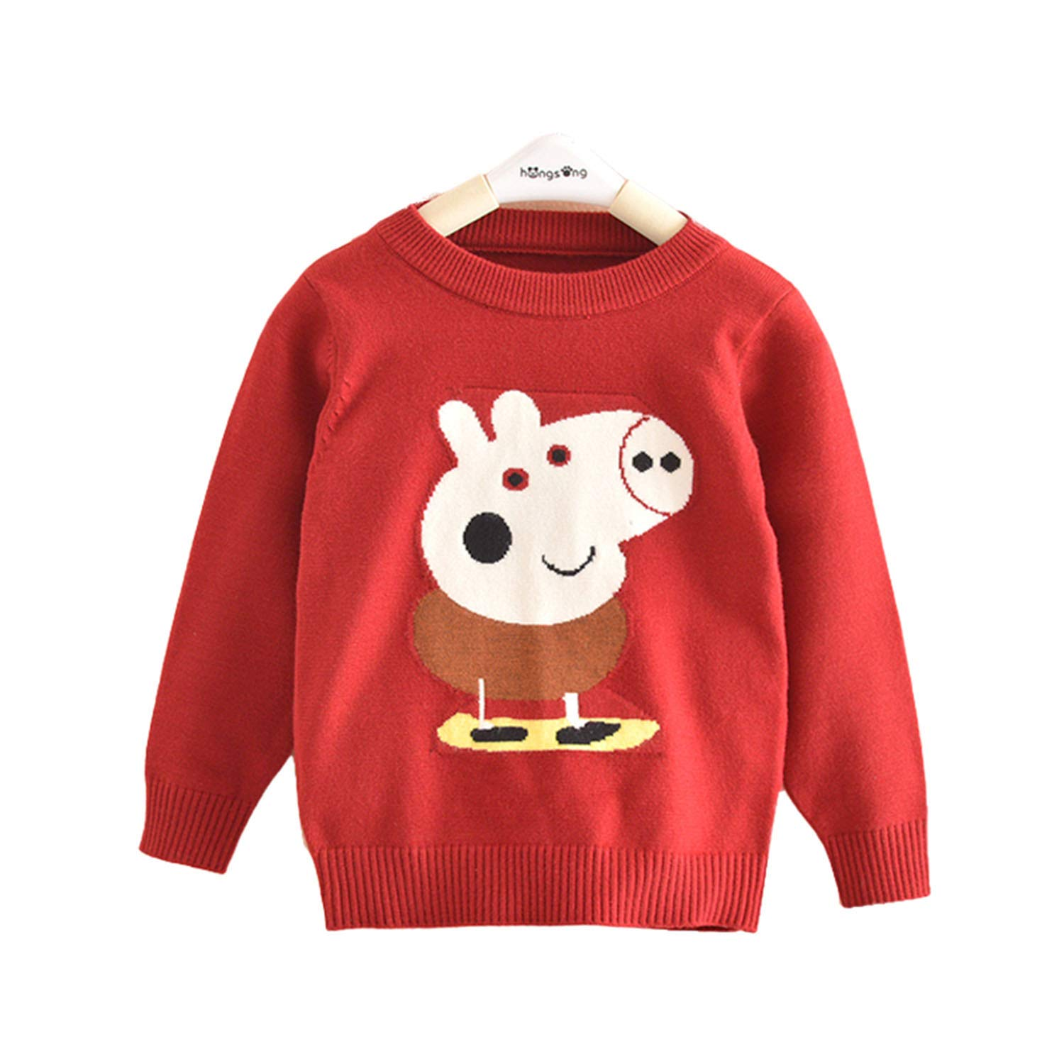Lemonkid Trendy Kids Lovely Cotton Peppa Pig Pattern Customized Pullover Sweater 100cm/ fit 2-3 T