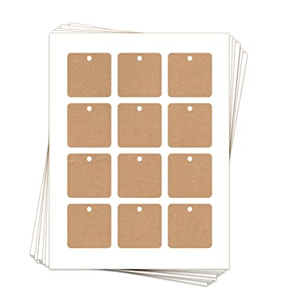 photograph about Printable Hang Tags known as : 60 Printable Cardstock Sq. Hold Tags with