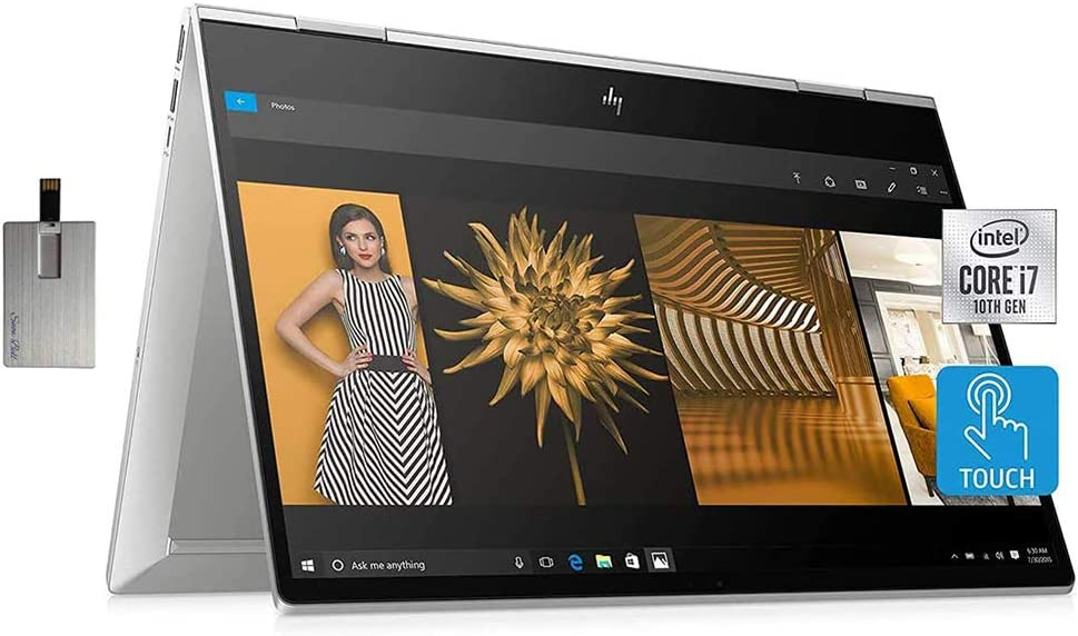 2020 HP Envy X360 15.6 Inch FHD 1080P 2-in-1 Touchscreen Business Laptop, Intel Quad Core i7-10510U up to 4.9GHz, Intel UHD Graphics, 16GB DDR4 RAM, 1TB SSD, WiFi, Backlit KB, FP Reader, Windows 10