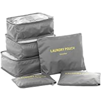 Packing Cubes,Travel Luggage Organizer-3 Travel Cubes + 3 Pouches