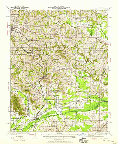 YellowMaps Dongola IL topo map, 1:62500 Scale, 15 X 15 Minute, Historical, 1920, Updated 1958, 20.7 x 16.9 in - Tyvek