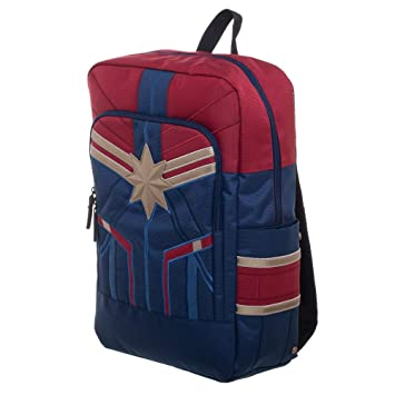 4ed31d62c762 Amazon.com  Marvel Captain Marvel Padded Strap Backpack Laptop Bookbag  Daypack School Bag  Coalition Supply