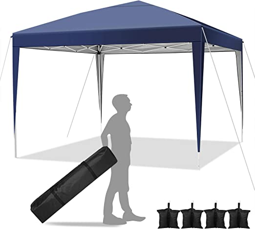 Hikole Carpa Plegable 3x3 Cenadores para Jardin Pergolas Plegables Impermeables con 4 Bolsa de Arena, Gazebo Plegable de Jardín Patio Acampar: Amazon.es: Jardín
