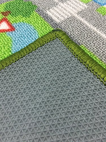 "HUAHOO Kids' with Roads Kids mat Children Learning Carpet Carpet Girl Bedroom Classrooms Play Children's Area Rug, 3'3"""