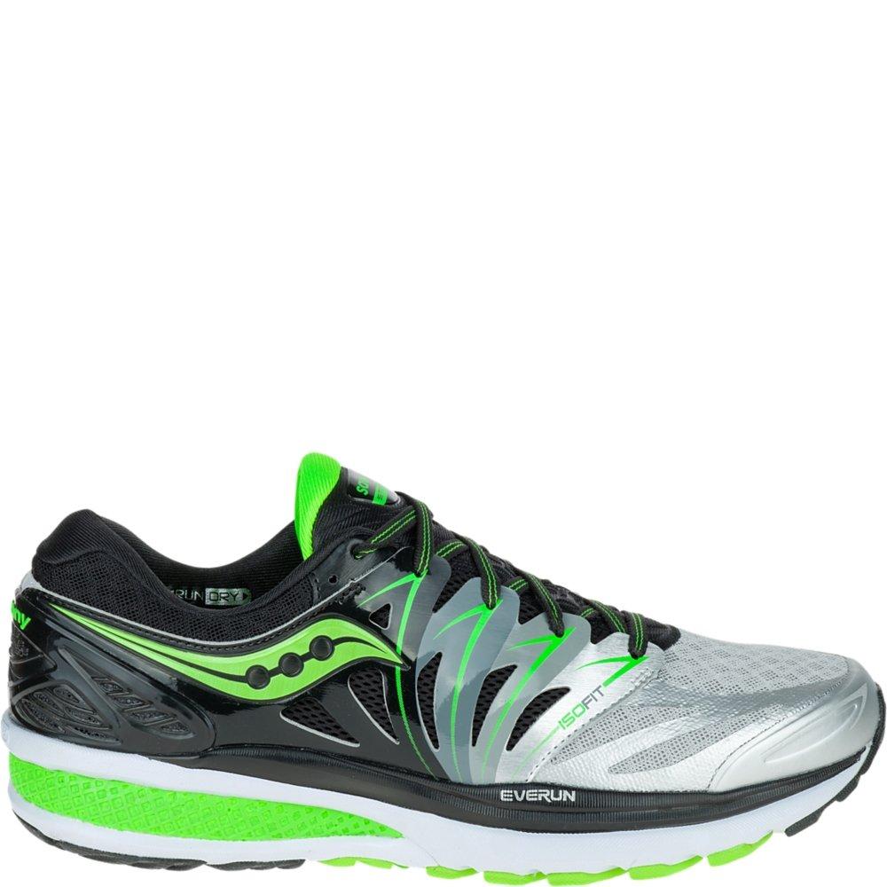 Argent (noir argent Slime) Saucony Hurricane Iso 2, Chaussures de Running Entrainement Homme 46 EU