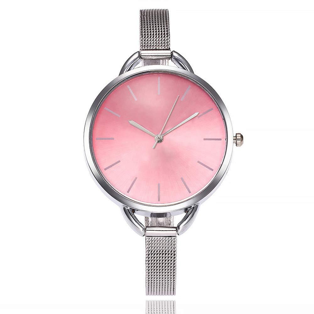 Triskye Womens Analog Quartz Watches Business Casual Stainless Steel Strap Band Round Wrist Watch Girls Ladies Wristwatch Bracelet for Teen Girls