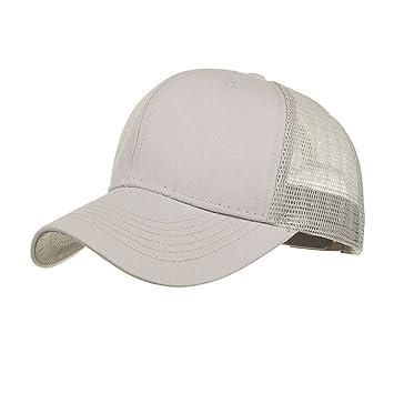 9fd92dd6332374 Hälfte Mesh Baseball Cap Schirmmützen Herren Damen, Hip Hop Flachen Hut  Einstellbar Sonnenhut Strandhut Mode