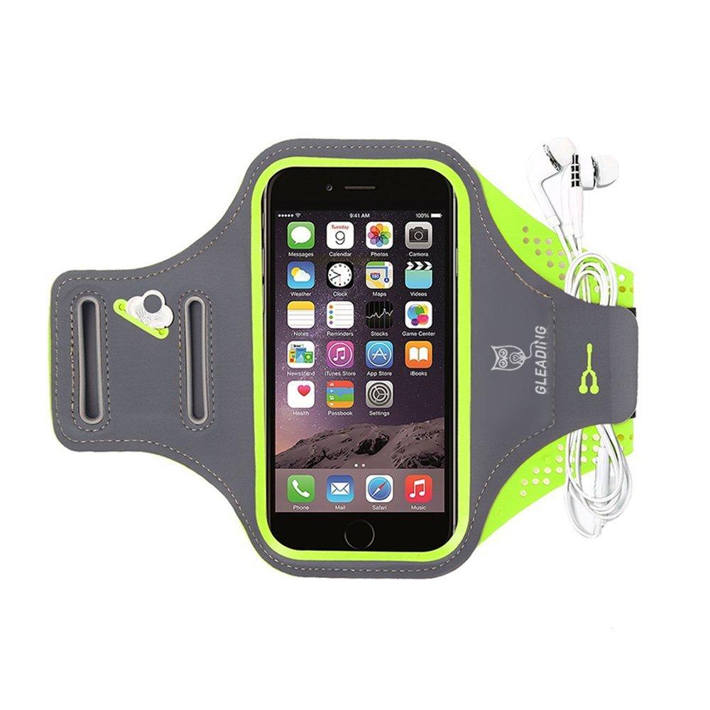 GLEADING Le R/églable Brassard de Sports pour T/él/éphone Portable R/ésistant /à leau 5,5 Pouces pour iPhone 8,7,6 Plus et Samsung Protecteur D/écran Huawei pour Le Sport Porte-cl/és