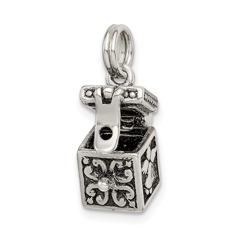 925 Sterling Silver Angel Prayer Box Charm