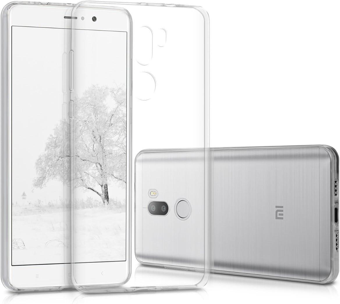 kwmobile Funda Compatible con Xiaomi Mi 5s Plus - Carcasa de TPU para móvil - Cover Trasero en Transparente