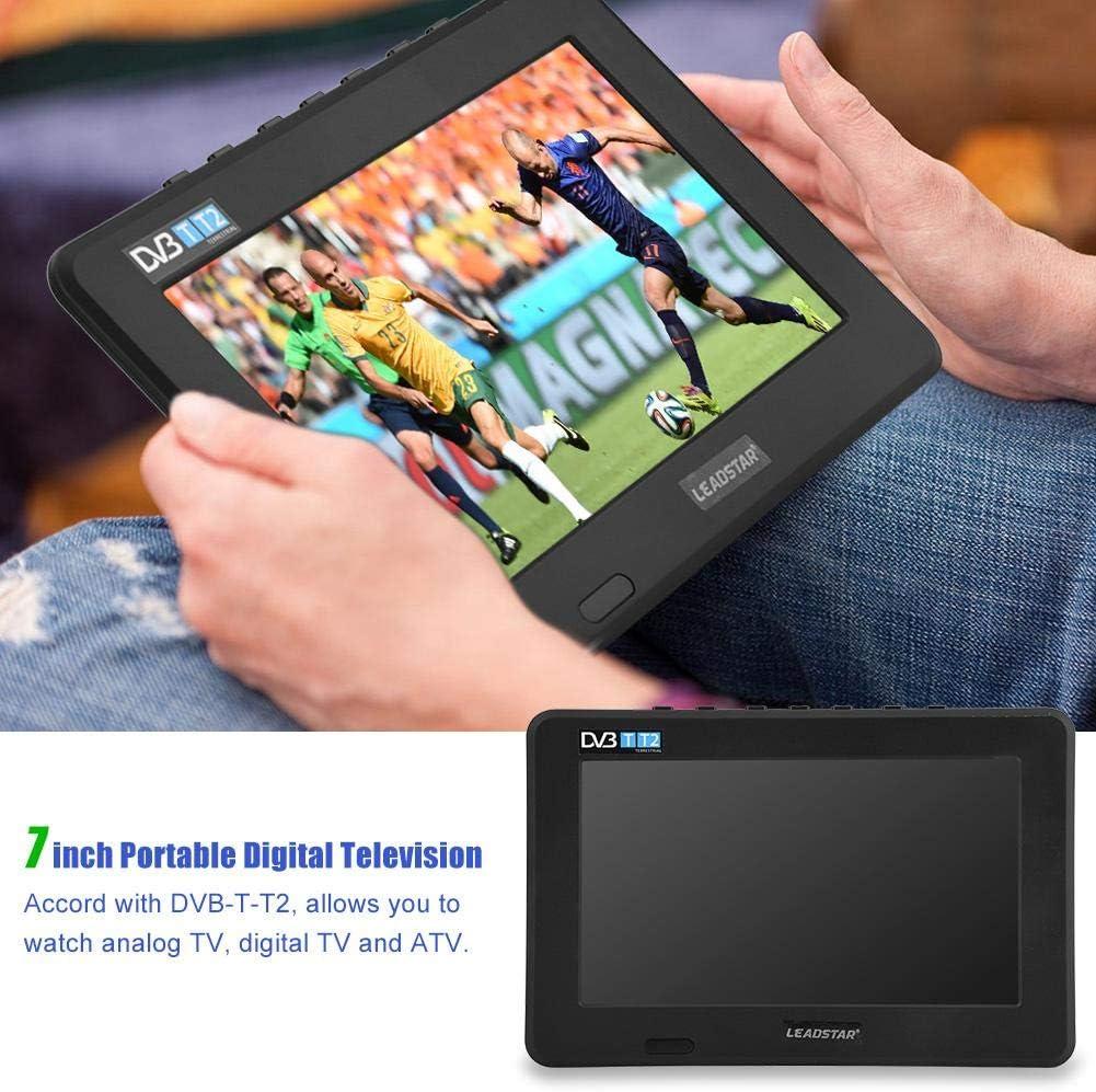 Richer-R Televisión Digital,Televisor Portátil con Cargador de Coche de 12V,Reproductor Multimedia/Grabador de Video con Soporte de Ventosa(Plug UE.): Amazon.es: Electrónica