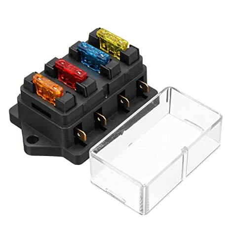 Audew Fuse Holder Box Block 4 Way CAR Vehicle Circuit Automotive + on car interior fuse box, vintage car fuse box, new car tail light, new car gas tank, new car tire, new car gas cap,