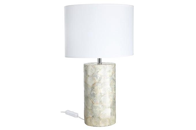 Paulmann 79448 Capiz - Lámpara de mesa oval (400 x 165 x 270 ...
