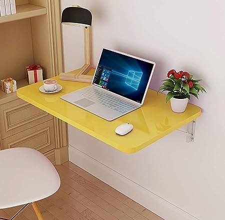Mesa plegable, color de madera, color amarillo, para cocina y ...