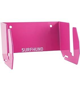 SURFHUND Soporte de pared multi vertical: para longboards, skateboards y kiteboards en negro o