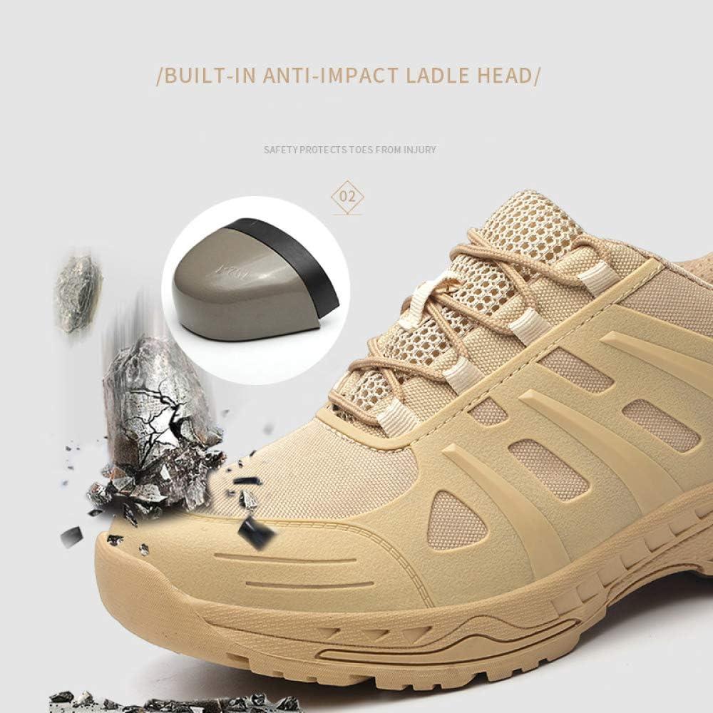 XLYAN Arbeitsversicherungsschuhe Leichte Atmungsaktive Herren-arbeitsturnschuhe Industriebau Schuhe Arbeitsschuhe