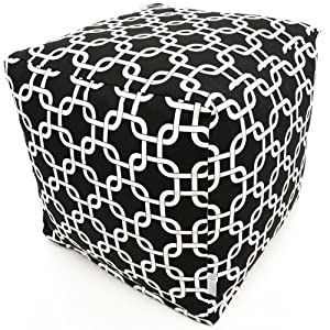 Majestic Home Goods Black Links Cube, Small