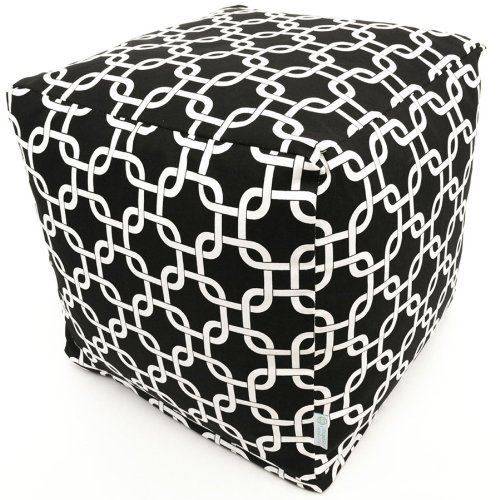 Majestic Home Goods Black Links Cube, Small ()