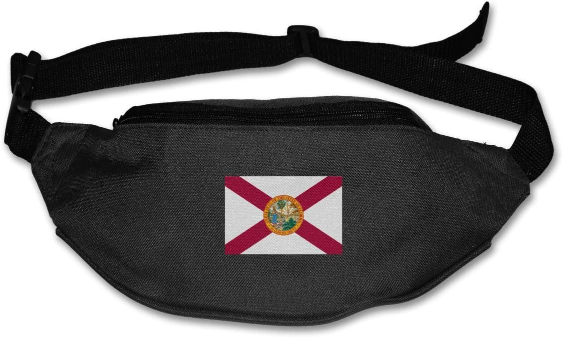 Flag Of Florida Waist Pack Adjustable Sport Fanny Pack For Run