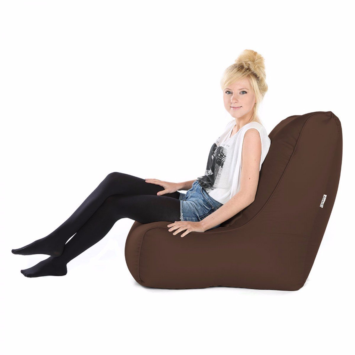 Taupe  rucomfy Bean sacs Confortable Chaise Solo Pouf Jaune