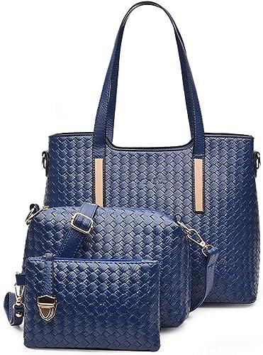 Farbe : Blau Handtasche Damen Handtaschen Und Geldb/örsen Designer Leder Tote Handtasche F/ür Frauen Top Griff Damen
