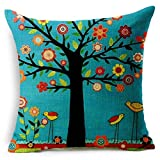 kaifongfu sales,Linen Square Throw Flax Pillow Case Decorative Cushion Pillow Cover18