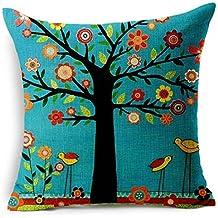 "kaifongfu sales,Linen Square Throw Flax Pillow Case Decorative Cushion Pillow Cover18 "" x 18 """