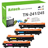 Aztech 4 Pack XXL Replacement for Brother TN241 TN-241 TN 241 TN245 TN 245 Toner Cartridge for Brother DCP-9020CDW Toner Brother HL-3140CW Toner Brother HL3140CW Toner Brother HL-3150CW HL 3150CW Toner HL-3170CDW Toner Brother MFC-9340CDW Printer