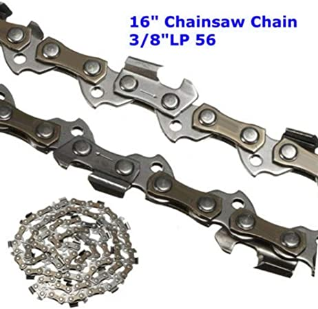 "16/"" 3//8 LP .050 Gauge 56 Drive Link Steel Chainsaw Saw Chain Blade Replacement"