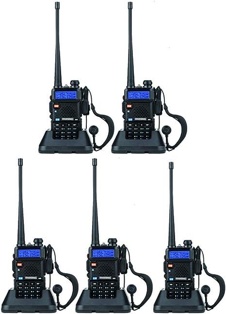 5x BaoFeng UV-5R VHF/&UHF Dual-Band Walkie Talkie ham 2 way 5R radio One Cable