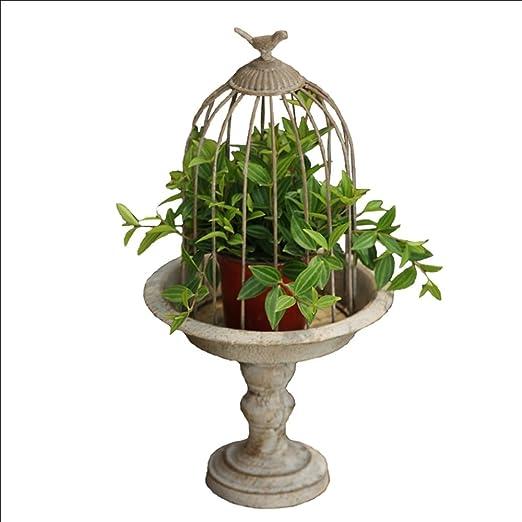 Soporte de flor vintage - Flor de jaula de pájaro de hierro ...