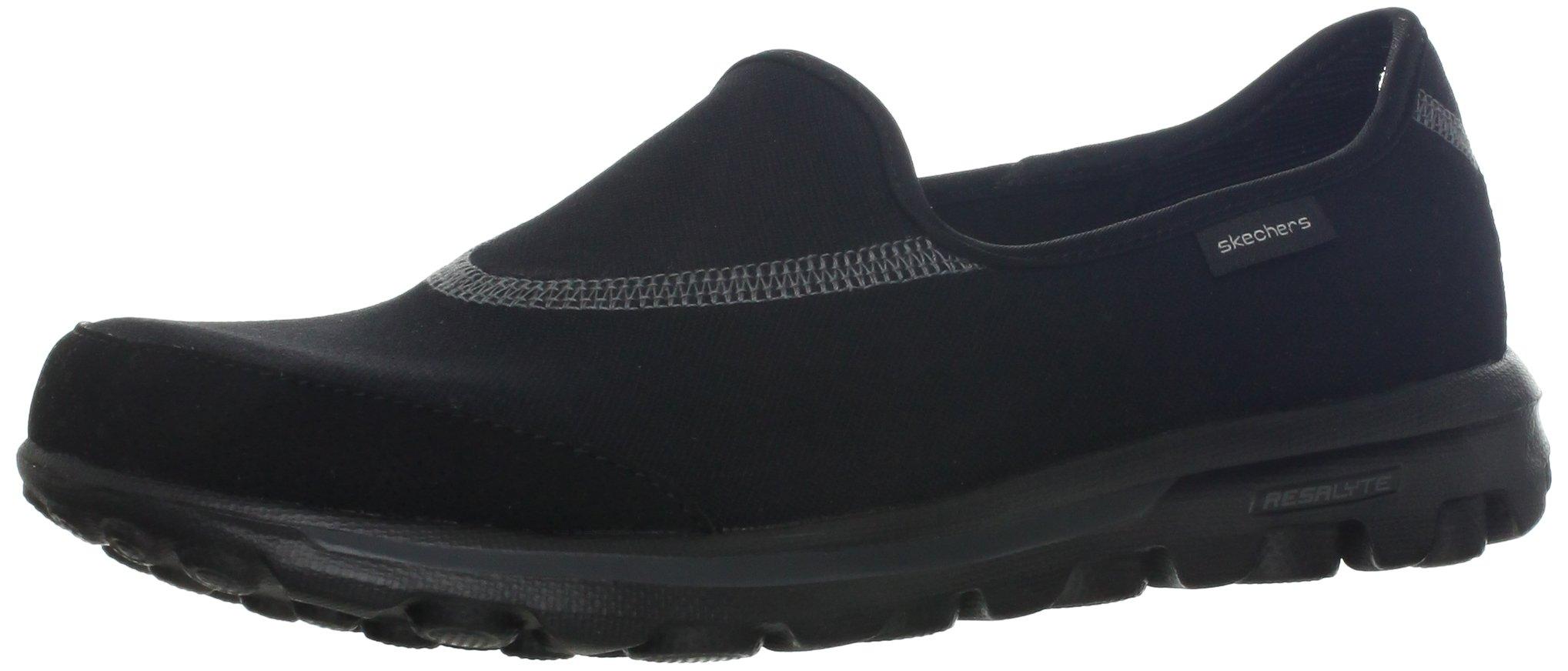 Skechers Performance Women's Go Walk 1 Slip-On Walking Shoe, Black, 8 M US