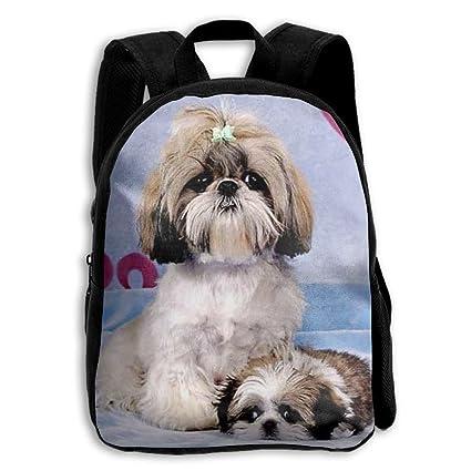 Amazoncom Ertougn22 Cute Shih Tzu Kids School Backpack Children